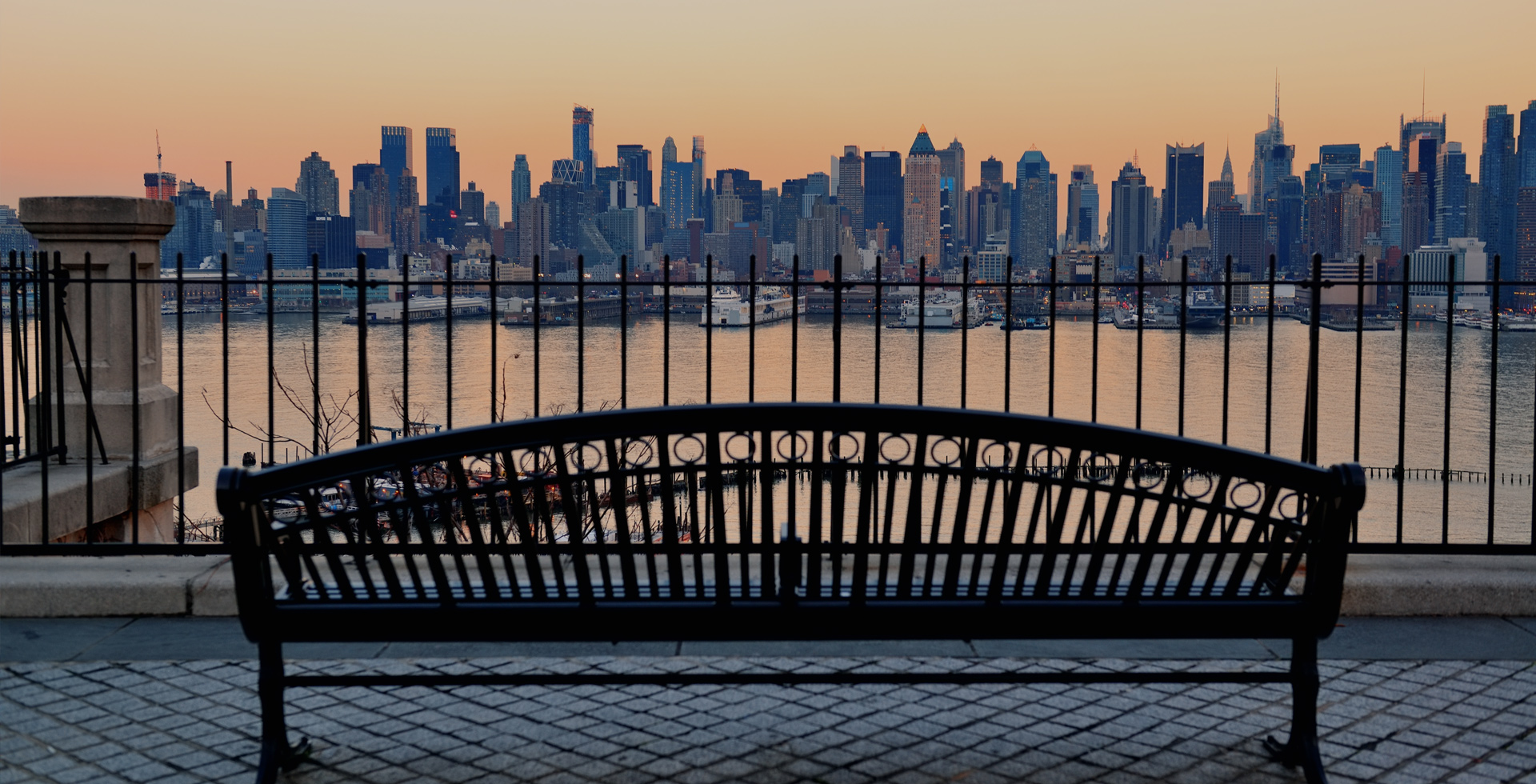 Bench Overlooking New York City
