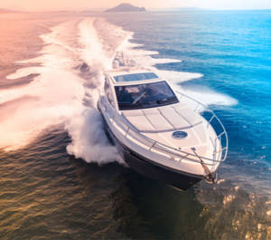 Speed Boat In Ocean