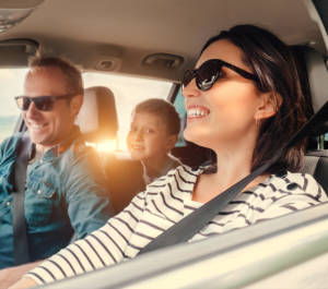 Family Riding Insured Vehicle