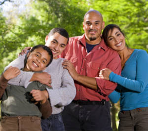 Happy Family With Insurance